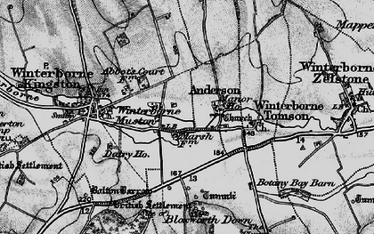 Old map of Winterborne Muston in 1898