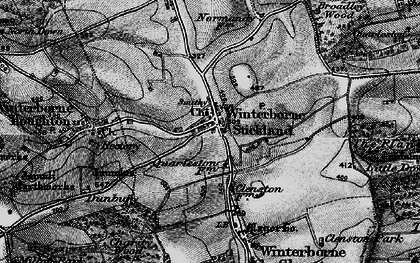 Old map of Winterborne Stickland in 1898