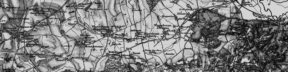 Old map of Winterborne Tomson in 1898