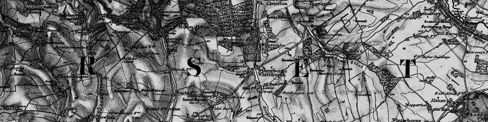 Old map of Winterborne Whitechurch in 1898
