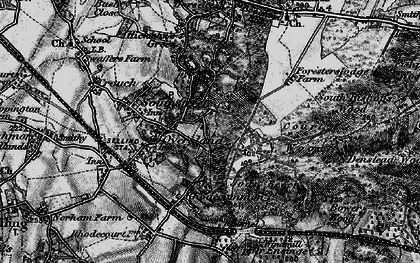 Old map of Winterbourne in 1895