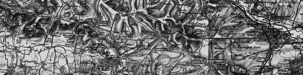 Old map of Winterbourne Abbas in 1897