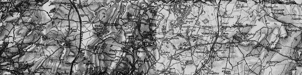Old map of Winterbourne Down in 1898