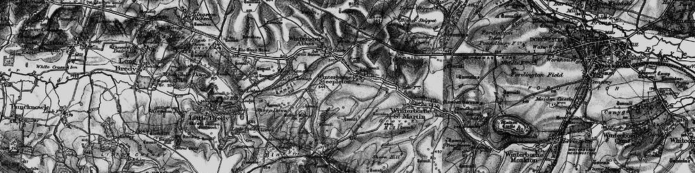 Old map of Winterbourne Steepleton in 1897