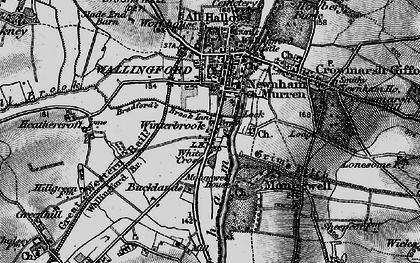 Old map of Winterbrook in 1895