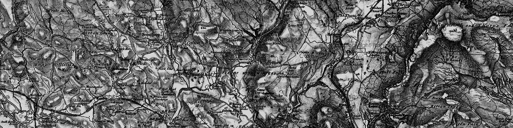 Old map of Yorkshire Dales Cycle Way in 1898