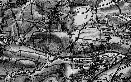 Old map of Winterfield in 1898