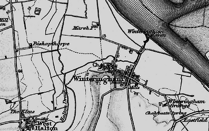 Old map of Winteringham Haven in 1895