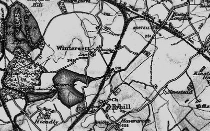 Old map of Wintersett in 1896