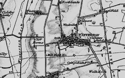 Old map of Winterton in 1895