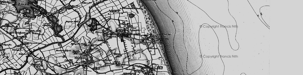 Old map of Winterton Dunes (Nature Reserve) in 1898