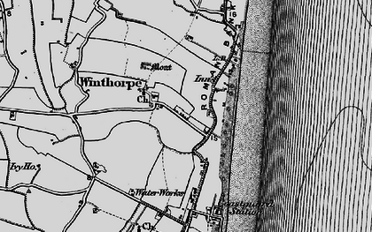 Old map of Winthorpe in 1898