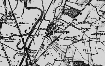 Old map of Winthorpe in 1899