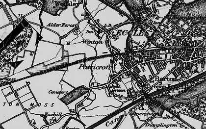 Old map of Winton in 1896