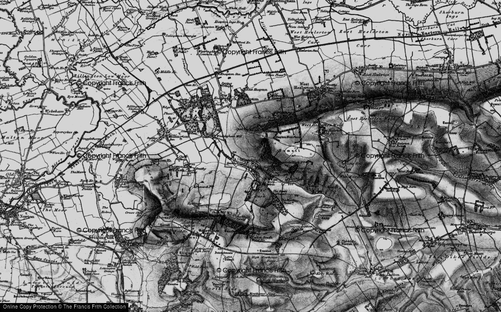 Old Map of Wintringham, 1898 in 1898