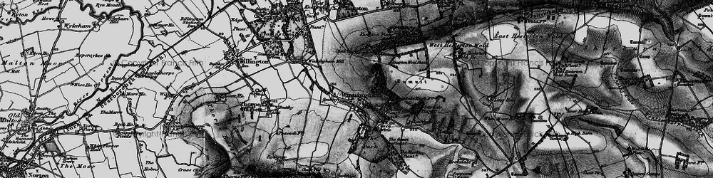Old map of Wintringham in 1898
