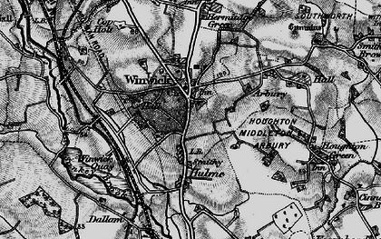 Old map of Winwick in 1896
