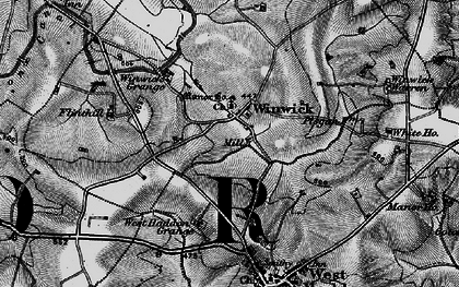 Old map of Winwick Lodge in 1898
