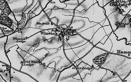 Old map of Winwick in 1898