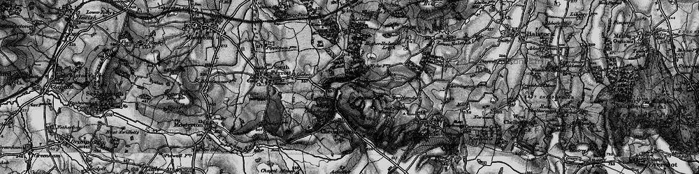 Old map of Winyard's Gap in 1898