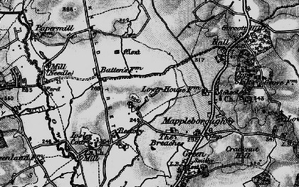 Old map of Winyates in 1898