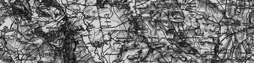 Old map of Winyates Green in 1898