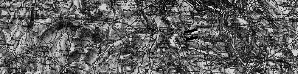 Old map of Wirksworth in 1897