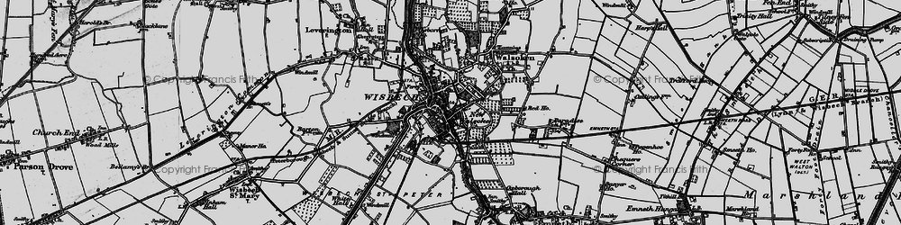 Old map of Wisbech in 1898