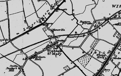 Old map of Wisbech St Mary in 1898