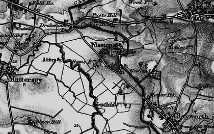 Old map of Wiseton in 1895