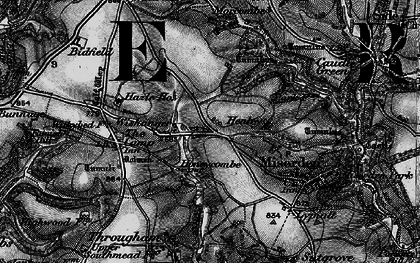 Old map of Wishanger in 1896