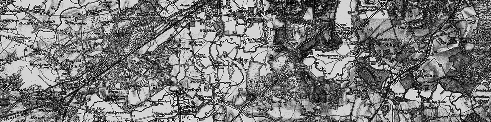 Old map of Wisley in 1896