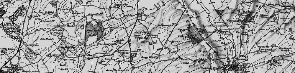 Old map of Wispington in 1899