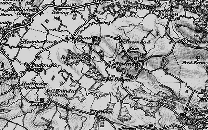 Old map of Wissenden in 1895