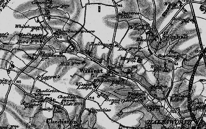 Old map of Wissett Lodge in 1898