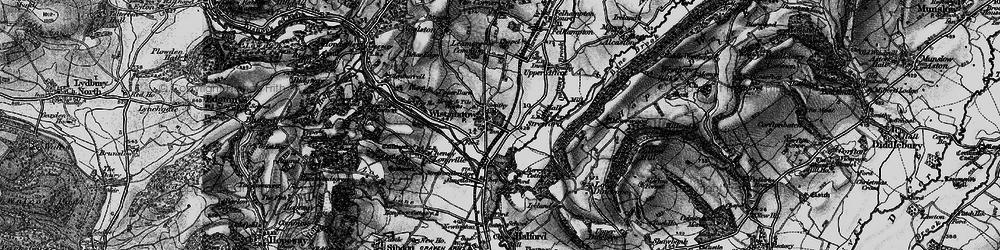 Old map of Wistanstow in 1899