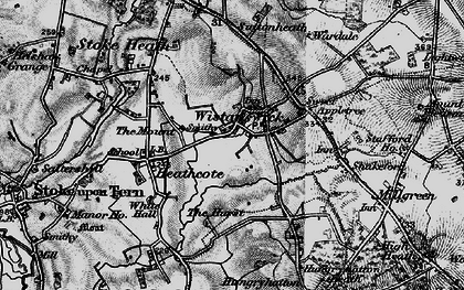 Old map of Wistanswick in 1897