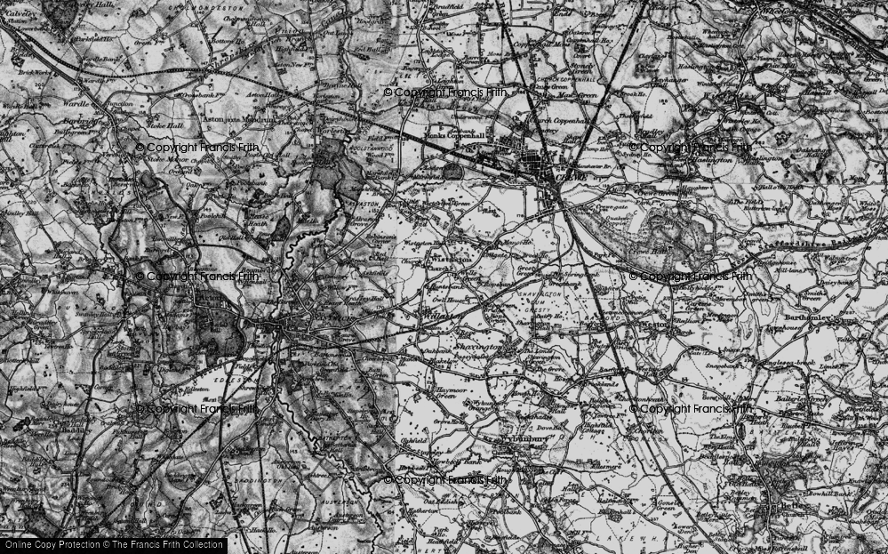 Old Map of Wistaston, 1897 in 1897