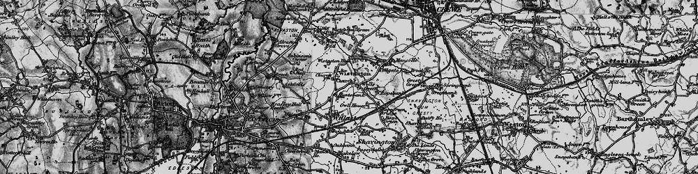 Old map of Wistaston in 1897