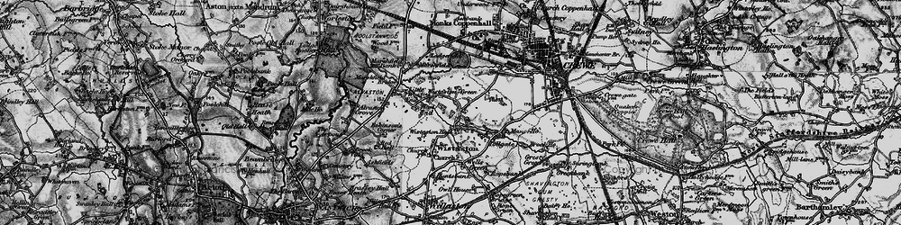 Old map of Wistaston Green in 1897