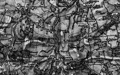 Old map of Wiston in 1895