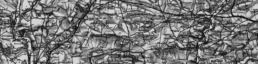 Old map of Wiston in 1898