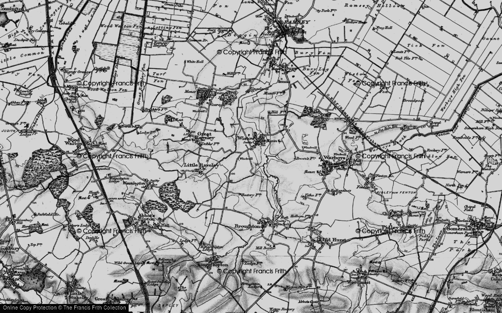 Old Map of Wistow, 1898 in 1898