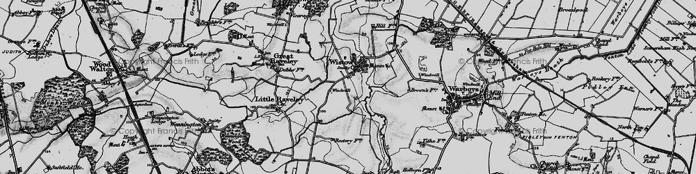Old map of Wistow in 1898