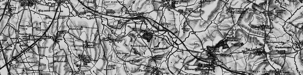 Old map of Wistow in 1899