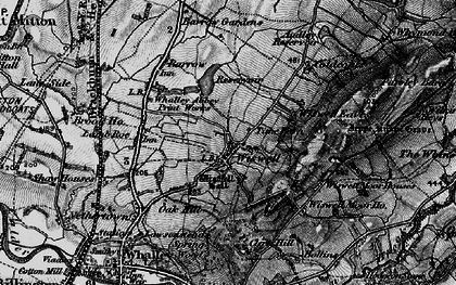 Old map of Wiswell Moor Houses in 1898