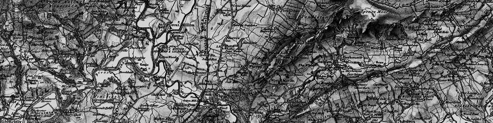 Old map of Wiswell in 1898
