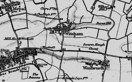 Old map of Witcham in 1898