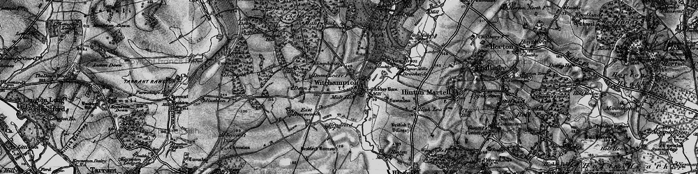 Old map of Witchampton in 1895