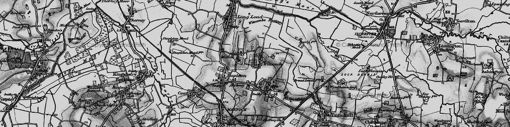 Old map of Witcombe in 1898